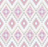 抽象几何无缝的阿兹台克模式 免版税库存图片