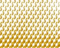 抽象几何样式,在豪华样式,梯度黄色金黄螺旋的金属颜色镶边了在白色背景的纹理 向量例证