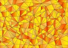 抽象几何样式以黄色 免版税库存照片