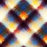 抽象几何格子花呢披肩 免版税库存图片