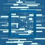 抽象几何框架正方形 库存照片