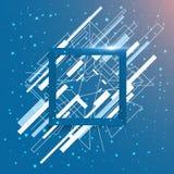 抽象几何框架正方形 免版税库存图片