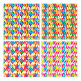 抽象几何概略的多斑点的菱形无缝的样式 免版税库存照片