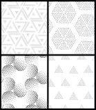 抽象几何模式无缝的向量 重复渐进性 库存例证