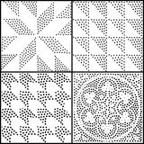 抽象几何模式无缝的向量 重复渐进性 向量例证