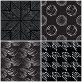 抽象几何模式无缝的向量 重复渐进性 皇族释放例证
