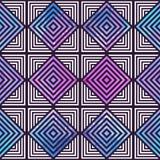 抽象几何模式 光学的幻觉 图库摄影