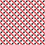 抽象几何模式 背景无缝的向日葵 黑,红色和白色纹理 免版税库存照片