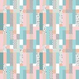 抽象几何模式 免版税库存照片