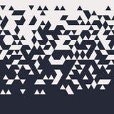 抽象几何水平Techno三角无缝的样式 库存例证