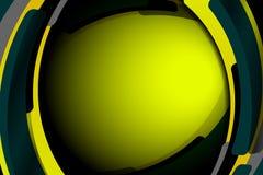 抽象几何波浪绿色背景 免版税库存照片