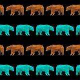 抽象几何熊无缝的样式背景 免版税库存照片