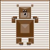 抽象几何熊 免版税库存照片