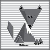 抽象几何狼 免版税图库摄影