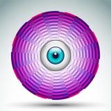 抽象几何眼睛象 免版税图库摄影