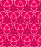抽象几何红色桃红色无缝的样式 免版税库存图片