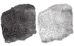 黑抽象几何线描 免版税图库摄影