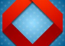 抽象几何美国颜色背景 免版税库存照片