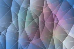 抽象几何背景包括三角 皇族释放例证