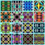 抽象几何背景难看的东西作用传染媒介例证的汇集 免版税库存图片