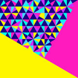 抽象几何背景,霓虹孟菲斯样式 库存例证