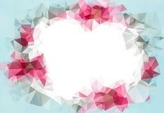 抽象几何背景 企业介绍或网模板的设计 华伦泰浅粉红色的背景 免版税图库摄影