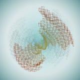 抽象几何背景-例证 免版税图库摄影
