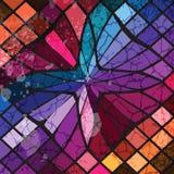 抽象几何背景 皇族释放例证