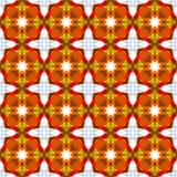 抽象几何花卉样式 免版税库存照片