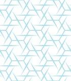 抽象几何蓝色图形设计印刷品锋利的六角形样式 库存例证