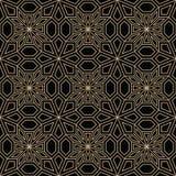 抽象几何金黄deco艺术枕头马赛克样式 免版税库存照片