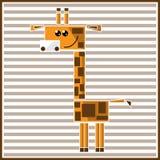 抽象几何长颈鹿 免版税库存照片