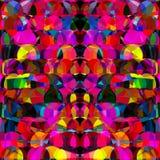 抽象几何霓虹亮光背景设计 免版税库存图片