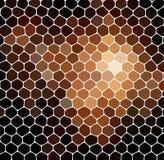 抽象几何马赛克背景褐色 免版税库存图片