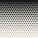 抽象几何黑白图表半音六角形样式背景 免版税库存图片