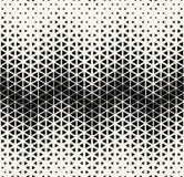 抽象几何黑白deco艺术半音hexagone和三角打印样式 皇族释放例证