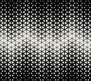 抽象几何黑白deco艺术半音hexagone和三角打印样式 免版税库存图片