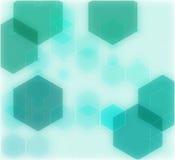 抽象几何绿色背景,传染媒介例证EPS10 免版税库存图片