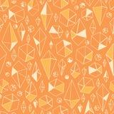 抽象几何chrystals无缝的样式 免版税图库摄影