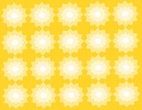 抽象几何patternwith黄色背景 向量例证