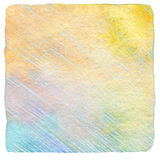 抽象凹道颜色铅笔和水彩背景 免版税库存图片