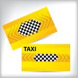 抽象出租汽车名片设计 免版税库存图片