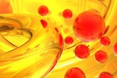 抽象分子结构 免版税库存图片
