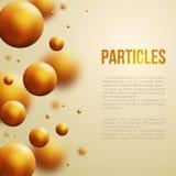 抽象分子设计 也corel凹道例证向量 库存照片
