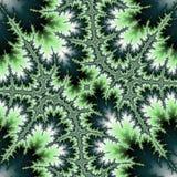抽象分数维绿色三叶草 向量例证