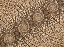 抽象分数维背景,螺旋 皇族释放例证