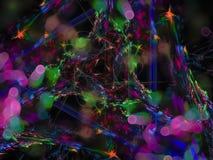 抽象分数维颜色,幻觉神秘的样式纹理当前设计假日模板能量 库存照片