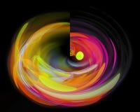 抽象分数维,作用充满活力的创造性幻想样式纹理幻想设计 库存例证