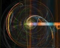 抽象分数维,流程想象力元素作用漩涡充满活力的不可思议的幻想高雅设计想象力装饰品 皇族释放例证