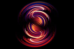 抽象分数维发光的形状 库存图片